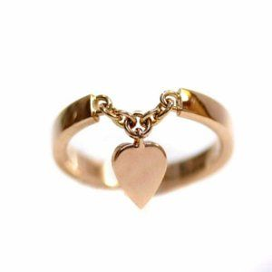 CARTIER LOVE ring with Hanging heart **ROSE gold!!